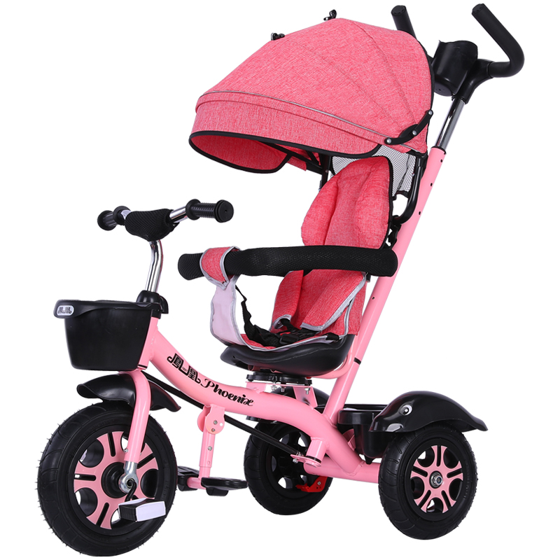 Children's Tricycle Baby Stroller 2-6 Years Old Baby Bicycle Multifunction Bicycle