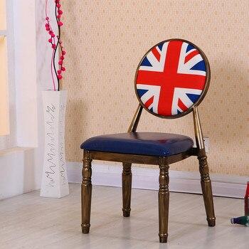 الرجعية الطعام كرسي الإبداعية مسمار البراز بسيطة المنزلية الحديد صافي الأحمر كرسي ماكياج غير رسمي