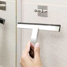 Shower Squeegee Window Glass Wiper Scraper Cleaner with Hook Holder for Bathroom X6HC