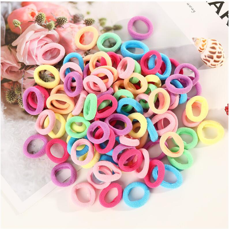 50 Pcs/Lot Colorful White Nylon Small Elastic Hair Bands For Girls Rubber Bands Scrunchie Gum Hair Tie Headband Hair Accessories