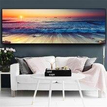 Goldlife pintura da lona praia navio mar arte da parede nórdico cartazes e impressões decoração casa tamanho grande imagens para sala de estar