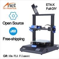 Anet ET4X 3D Printer Kit Full DIY 220*220*250mm Printing size with 0.4mm Extruder High Precision Fashion Family DIY 3D Printer