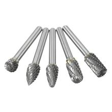5x Tungsten Carbide Burr 1/4