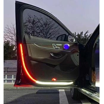 Wnętrze samochodu drzwiowe światło wejściowe sygnalizator niebezpieczeństwa LED Strobe lampka sygnalizacyjna Strip 120cm wodoodporna 12V Auto dekoracyjne oświetlenie otoczenia tanie i dobre opinie BoFaCarry CN (pochodzenie) Światło na powitanie 2020 new 12 v 0 07kg Car bluetooth handsfree speakerphone
