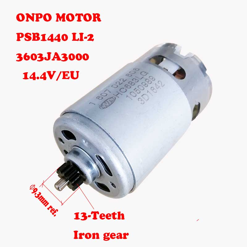 PSR1440LI-2 DC Motor 14.4V 13-Teeth 1607022606 HC683LG For Replace 3603JA3000 Electric Drill Screwdriver Power Accessories