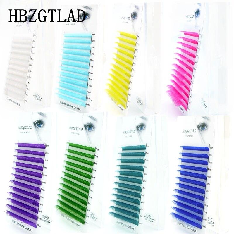 Накладные ресницы HBZGTLAD с/D curl 0,07/0,1 мм 8 13 мм, разные длины, индивидуальные цветные ресницы, накладные ресницы Накладные ресницы      АлиЭкспресс - Для красоты и здоровья