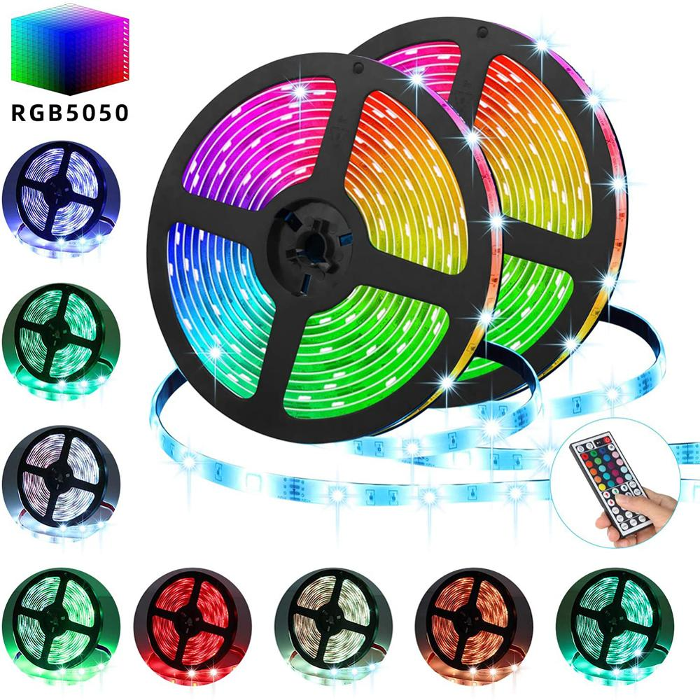 LEADLY LED Strip Lights 16 4ft RGB LED Light Strip 5050 LED Tape Lights Color Changing LED Strip Lights with Remote For Home