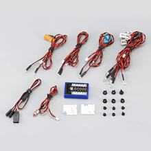 12 Ultra LED Flashing Bright Light Strobe Lamps Kit System for 1/10 1/8 RC Drift HSP TAMIYA CC01 4WD Axial SCX10 RC Car Truck(China)