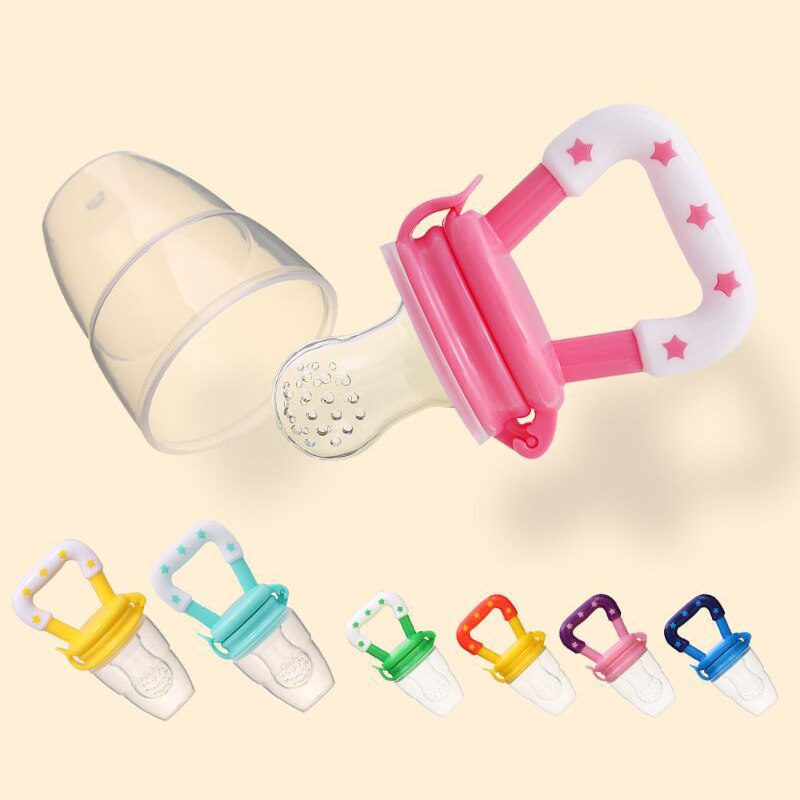 Baby Pacifier Holder Safety Silicone Pacifier Feeder Vegetable Fruit  Chewable Soother Thumb Sucking Toddlers Teether Eat Food
