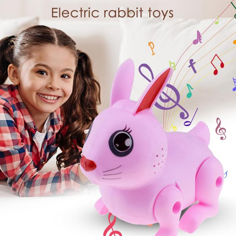 Electronic Jumping Rabbit Toy Simulation Animal Model Battery Operated Pets Toys Children Gift Home Ornament