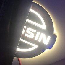 5D Voiture Logo Insigne LUMIÈRE LED Nissan Arrière Voiture Logo Lumière Idéal Pour Nissan Logo Design Extérieur Décoration