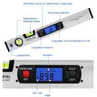 360 °Upward LCD Vertical Reading Digital Display 400mm Spirit Level Automatic Power Off Freeze Measurement Digital Inclinometer