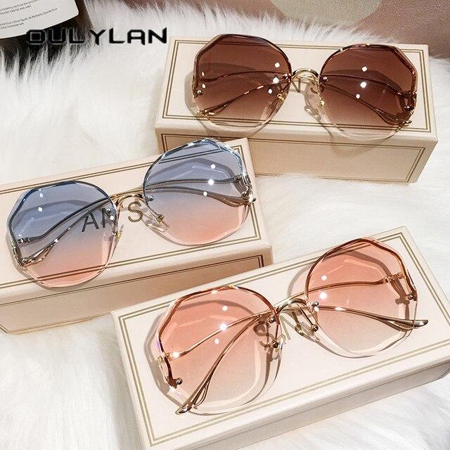 Fashion Tea Gradient Sunglasses UV400 6
