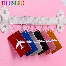 Avião redondo para bagagem, avião em forma de avião para viagem, acessórios criativos, etiquetas de nome, liga de alumínio, etiquetas de bagagem