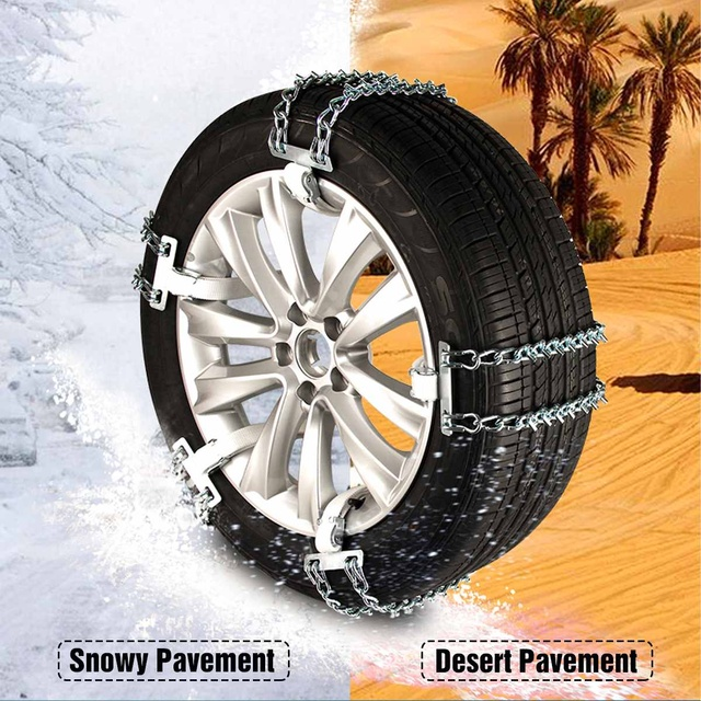Universial Car Snow Chains Tyre Tire Wheel Anti-skid Chain Adjustable Wear-resistant Steel Winter Use Ice Snow Mud Road safety