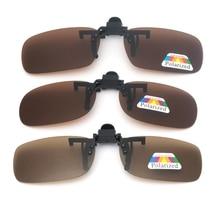 цена на Car Driver Goggles Anti-UVA UVB Polarized Sun Glasses Driving Night Vision Lens Clip On Sunglasses Interior Accessorie