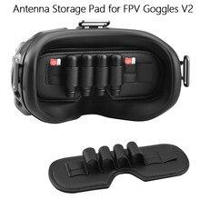 Almofada de armazenamento para dji fpv óculos de proteção de lente v2 protetor capa anti-fricção antena titular de armazenamento de cartão sd zangão óculos