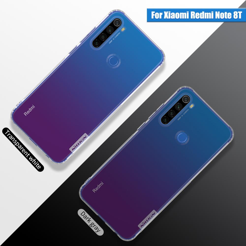 For Xiaomi Redmi Note 8t Case Nillkin Nature Transparent Clear Soft Silicon TPU Cover Redmi Note 8t Global Version Case Cover