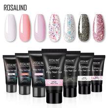 ROSALIND – Gel semi permanent à UV pour poly extension d'ongles, accessoire de manucure pour la fabrication et conception de nail art, pour paillettes,