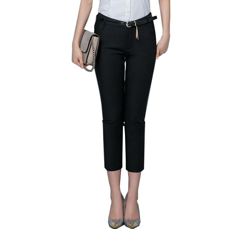 Formal ladies office work wear trousers 2020 summer women OL style black capris pants female pencil pants plus size 4XL