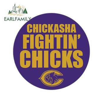 EARLFAMILY 13cm x 13cm for Chickasha Fightin Chicks Car Stickers and Decals Auto Car Wrap Motorcycle Vinyl Personality Decor image