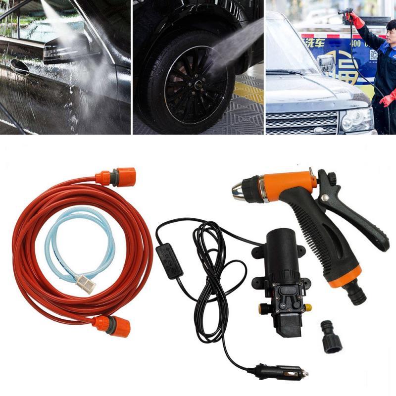 Kit de Limpieza de autom/óviles de Alta presi/ón port/átil 70W 130PSI 12V Durable Completo DIY Auto Lavado de Herramientas Set Ahorro de Agua