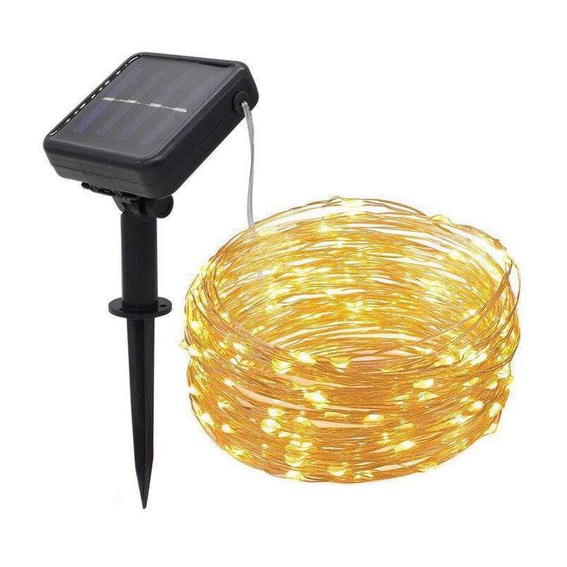 Led Solar Copper Wire Lamp Outdoor Solar Fairy Lights 5M 10M 20M Kerst String Light For Wedding Garden Solar String Light