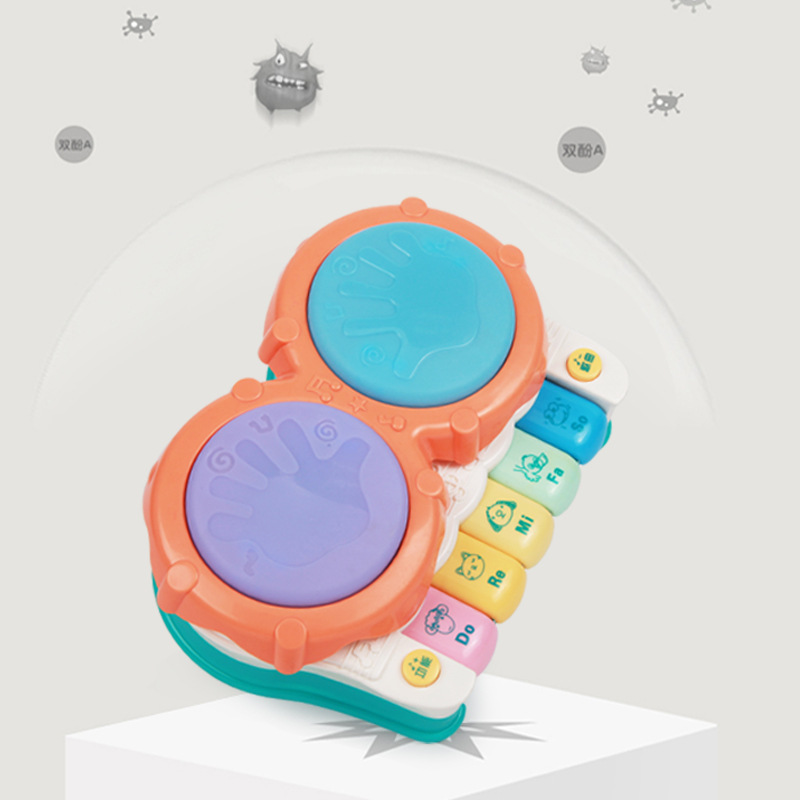 Beiens Baby Hand Drum Children Electric Music Drum Educational Baby Toys 0-1-Year-Old 6-12 Month