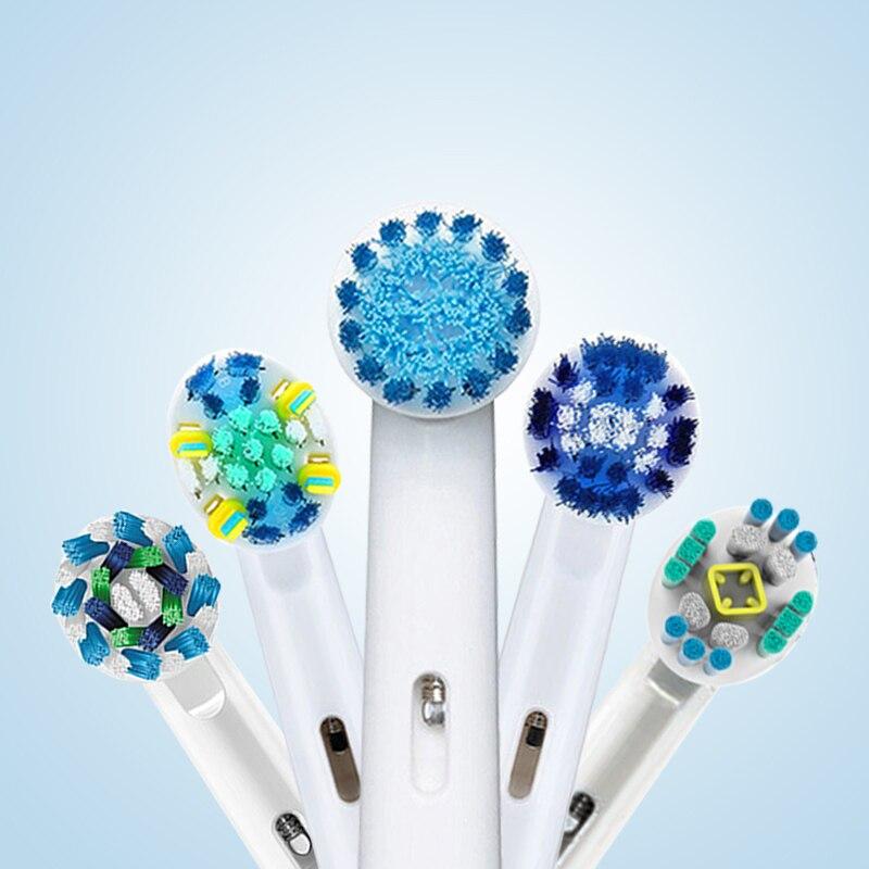 Oral B eléctrico cabezas de cepillo de dientes de Rotary para cepillo de dientes eléctrico 4 unds/pack reemplazable cepillo de dientes cabezas