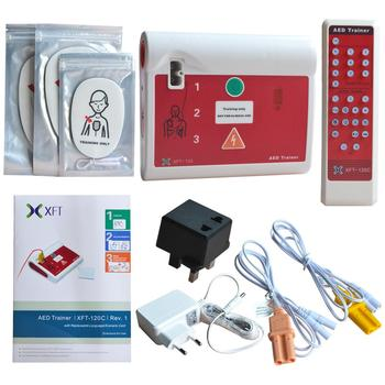 Automatic External Defibrillator Monitor For Emergency CPR AED First Aid Practice Trainer In English & Brazilian Portuguese недорого