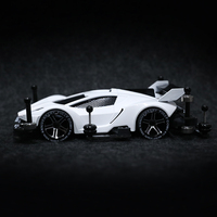 Tamiya Mini 4WD Car Model 18637/95216 With MA Chassis Upgrade Spare Parts Set White & Black