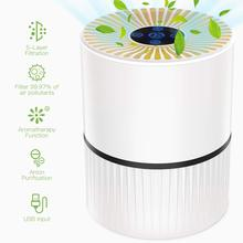 Home 3 Modes Portable Air Purifier USB Charge LED Night Light True HEPA Filter Air Cleaner Anion Ionizer Negative Ion Generator free shipping solar energy air purifier usb charge portable air cleaner