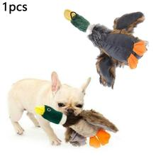 Pet Vocal Toy Forgive Wild Duck Cat And Plush Dog Companion Doll Will Call Puppet For Dogs Cats