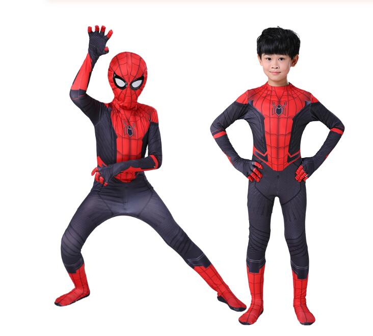 New Kids Boys Far From Home Spider-man Cosplay Costume Zentai Suit Child Homecoming Spiderman Halloween Event Holiday Costum