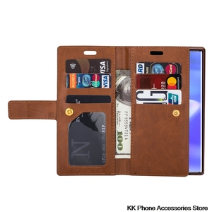 Image 3 - Rits Portemonnee Telefoon Geval Voor Samsung Note 10 Plus 9 8 A70 A50 A60 A40 A20E A7 Flip Leather Case voor Samsung S10 S9 S8 Plus S10e