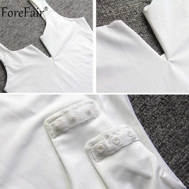 Forefair V Neck Sleeveless Sexy Bodysuit Women Summer Romper White Black Backless Bodysuit Body Top 10