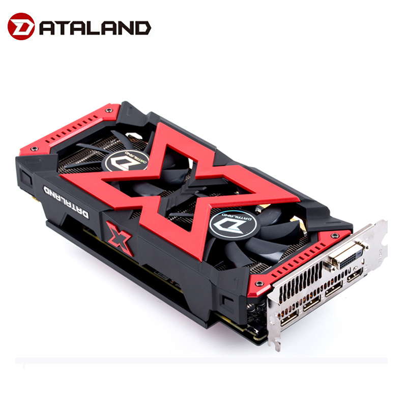 Dataland <font><b>RX580</b></font> 4GB X-Serial Gaming Video Card GPU <font><b>RX580</b></font> 4G Graphics Cards Computer Game For AMD Video Cards image