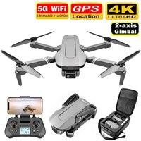 Drone f4 com quatro hélices, quadricóptero profissional sem escova, gps, wifi, 4k, fpv, 2 eixos, gimbal, brinquedo vs sg906 pro