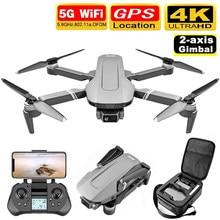 Zangão de gps f4 com 5g wifi fpv 2-axis cardan 4k câmera dupla profesional sem escova rc quadcopter dron helicóptero brinquedo vs sg906 pro
