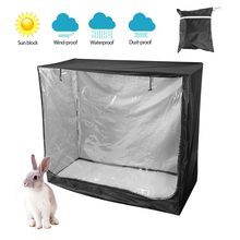 Rabbit Hutch Cover Case 210D Oxford Bunny Pet Cage Covers Cloth Dustcover Waterproof Anti Dust Rain UV Sun Protector Patio Cover юбка hutch