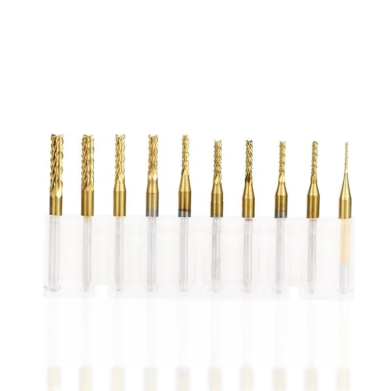"10Pc 0.9mm 1//8/"" PCB Drill bit Carbide Engraving Mill Cutter CNC 3.175mm L 38MM"