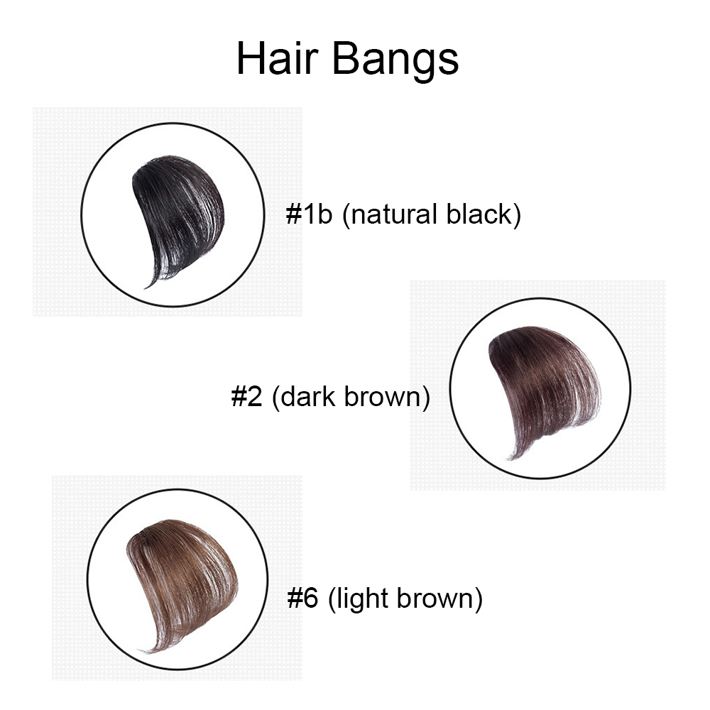 Ugeat Clip In Hair Bangs 100% Real Human Hair Extensions Air Bangs With Clip Hair Pieces Human Hair Extensions