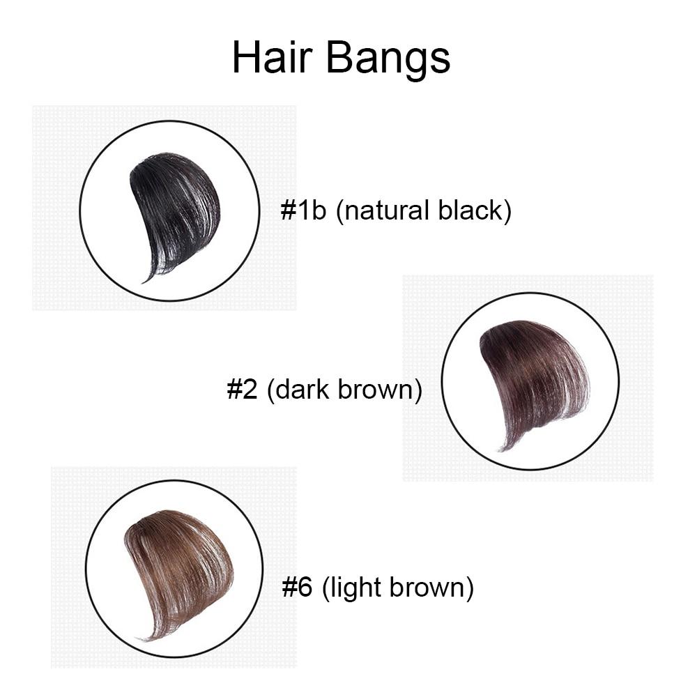 Ugeat Clip In Hair Bangs 100% Real Human Hair Extensions Air Bangs With Clip Hair Pieces Human Hair Extensions