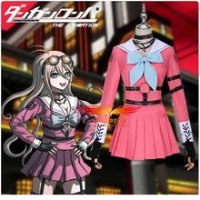 Anime Danganronpa V3 Killing Harmony Iruma Miu Cosplay Costume Adult Woman XS-XL Pink JK Uniform outfits Sail Suit Halloween