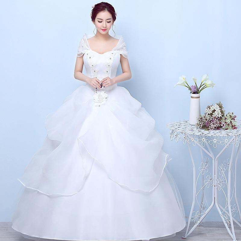 2019 Sale Vestido Cocktail Wedding Dress 2020 New Brides' Korean Simple Shoulder Bag Slim Size Show Thin Winter Spring Female