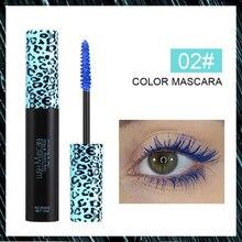 1 pçs cor rímel à prova dfast água rápido seco cílios ondulação alongamento maquiagem olhos cílios azul roxo rímel olhos maquiagem tslm1