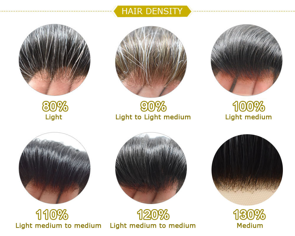 Image 5 - EVAGLOSS Men Toupee Hairline 100% Real Natural Indian Remy Human Hair Men Wig Swiss Lace Thin PU Toupee Hair Replacement SystemToupees   -