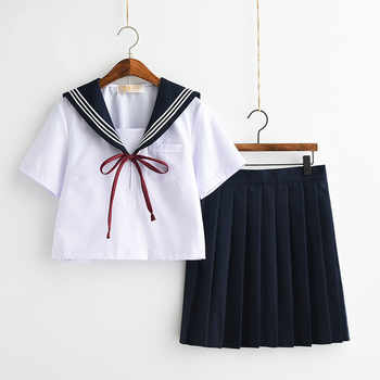 Japanese School Uniforms Bowknot JK Suits Navy Skirts Female Dresses Sailor Costumes Gray Cardigans Dress Clothes for Women - DISCOUNT ITEM  30 OFF Novelty & Special Use