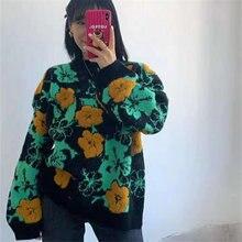 Женский Повседневный Свободный пуловер мягкий теплый джемпер