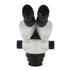 Image 3 - 3.5X 90X Simul הפוקוס סטריאו Trinocular זום מיקרוסקופ ראש WF10X/20mm עינית 0.7X 45X מטרה עדשת זום רציף
